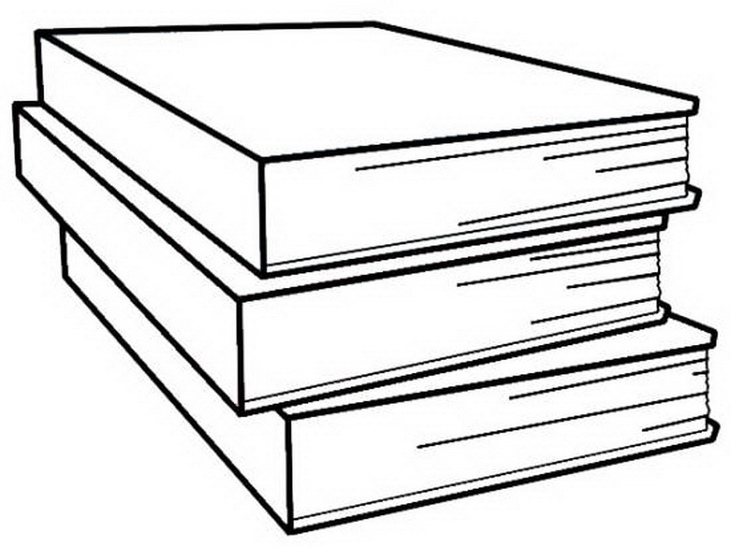 Book clipart easy Coloring White of Stack 2091