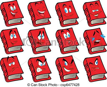 Book clipart face Vector of with Vector the
