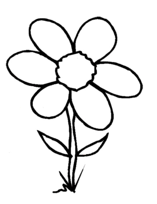 Bobook clipart flower Download Clipart flowers book colouring