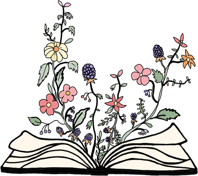 Bobook clipart flower Flowers Redbubble book growing book