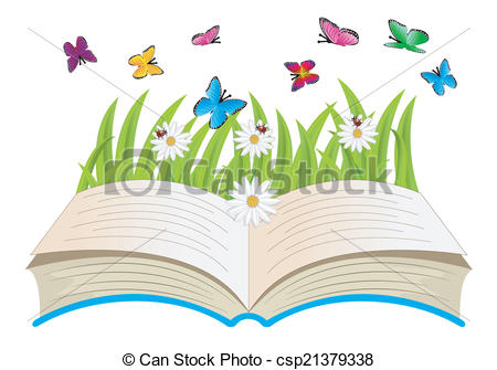 Book clipart flower Book Vectors Vector and