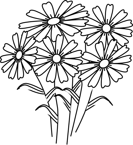 Book clipart flower At Flowers Download Coloring