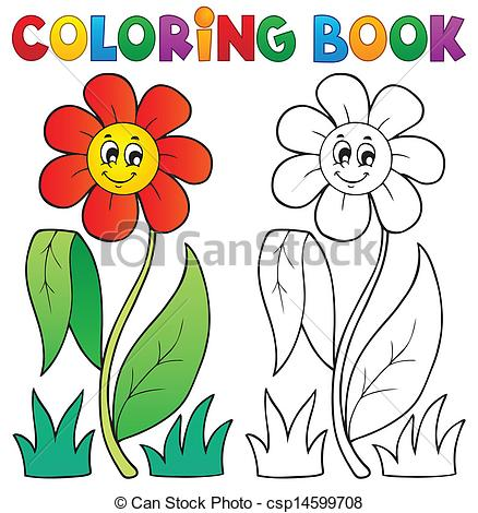 Bobook clipart flower Coloring with flower Vector theme