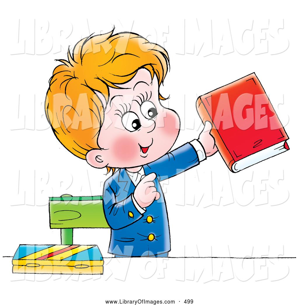 Book clipart his A Boy of Clip School