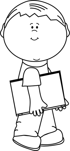 Book clipart his Boy Book a with Black