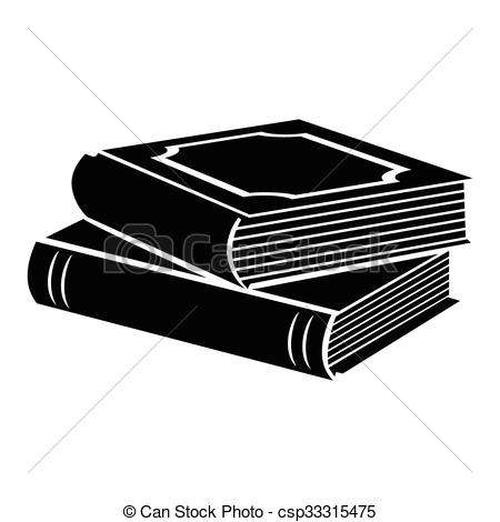 Book clipart horizontal Illustration icon of csp33315475 black