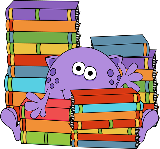 Bobook clipart many book Monster Monster Clip Books by