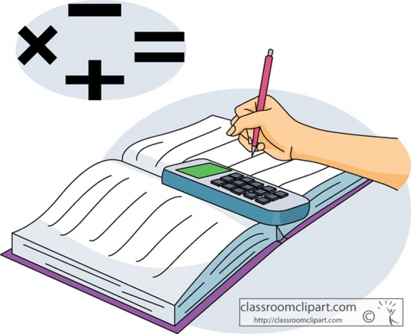 Bobook clipart math Classroom mathematicsbookwithcalculator intended for math