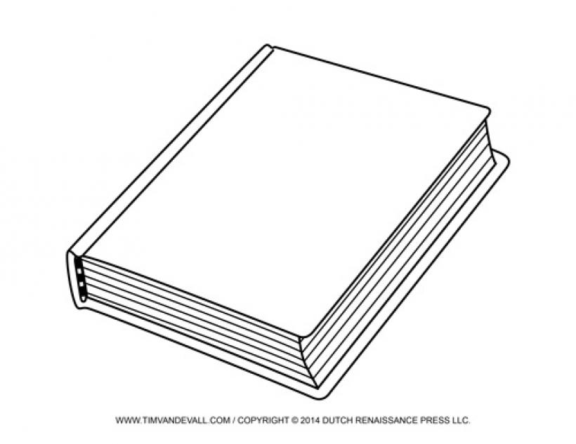 Book clipart outline Book outline 18 clipart photos