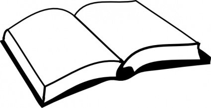 Book clipart outline On library Art Outline Clip