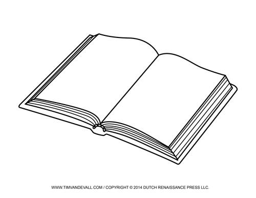 Book clipart outline Outline outline 28KB clipart Book