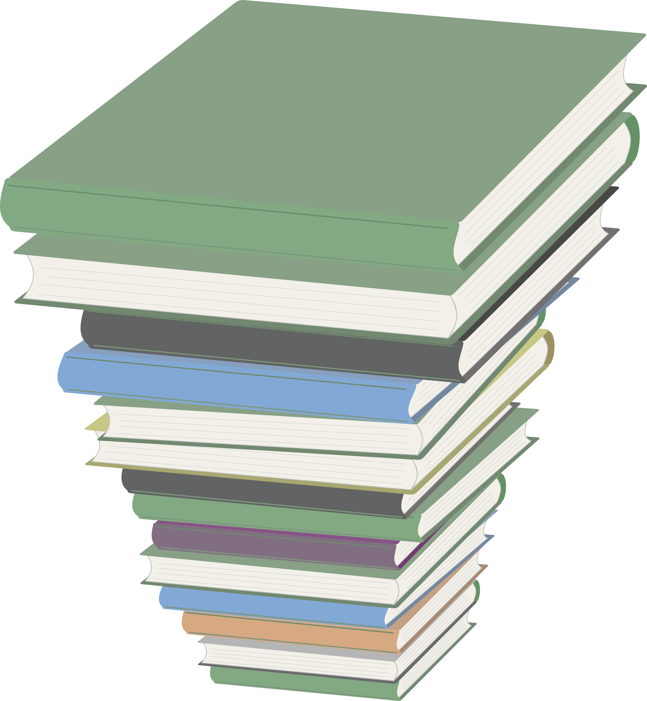 Book clipart piled Pile Books Pile of Clipart