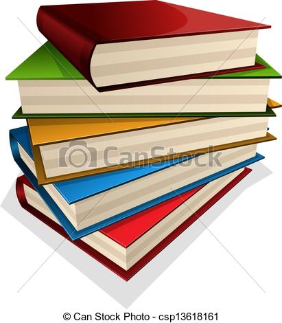 Bobook clipart piled Vector Clip of pile books
