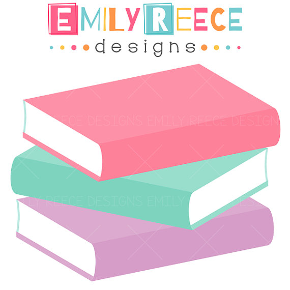 Bobook clipart pink Book stack book stack collection