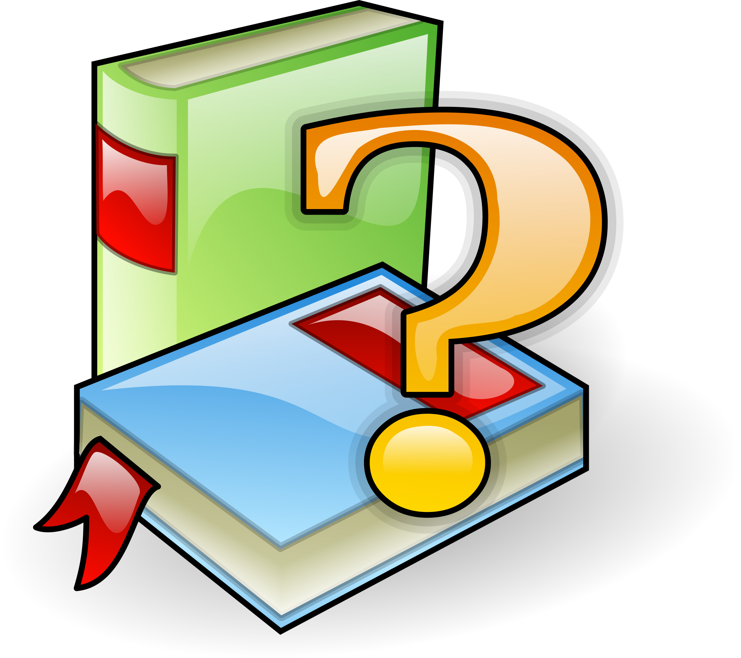 Book clipart question mark Books mark with Clipart Books