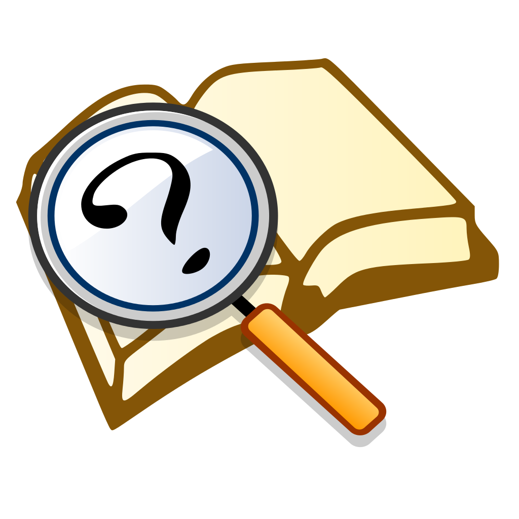 Book clipart question mark File:Question svg magnify2 File:Question book