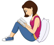 Book clipart reading a Leaning Clipart Illustrations Clipart Kb
