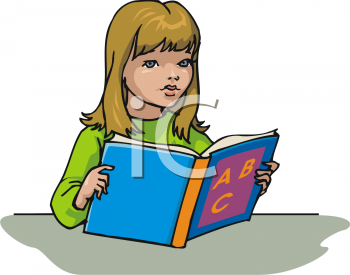 Book clipart she reads Read%20clipart Little Reading Images Girl