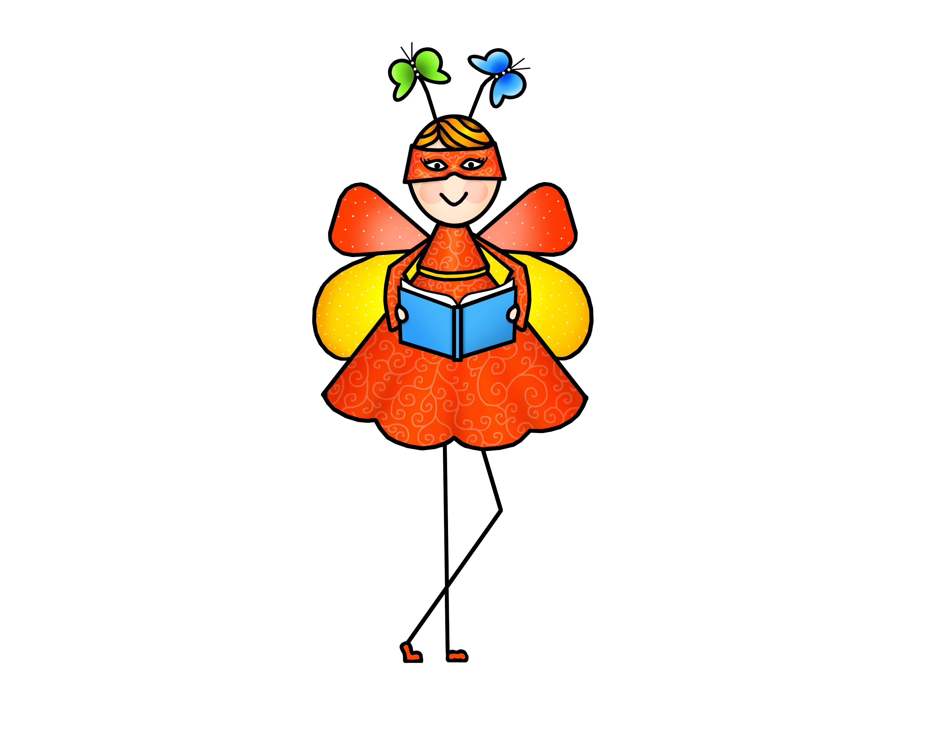 Book clipart she reads Blossom what wants to Learn