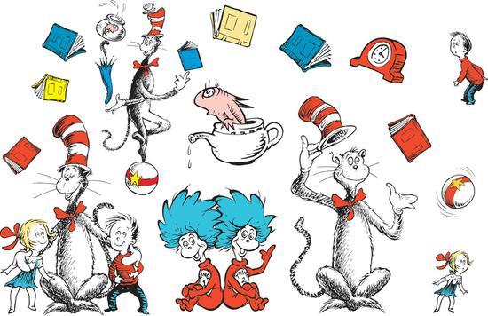 Book clipart the cat in hat The clipart Clipartix seuss art