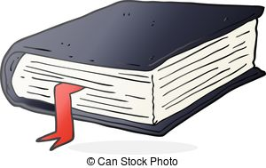 Book clipart thick Freehand Cartoon book thick thick