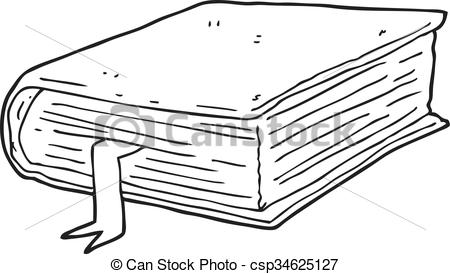Book clipart thick White  Vector black and
