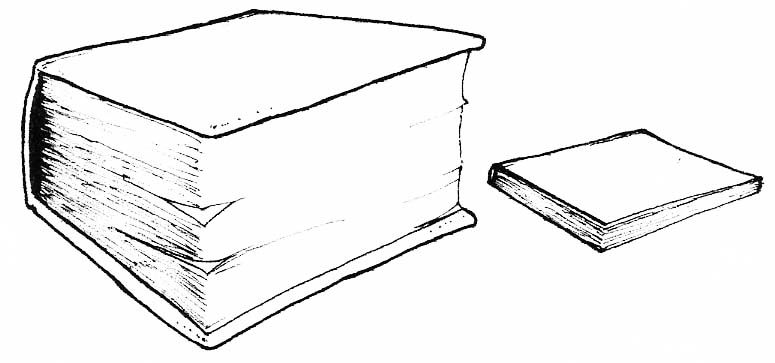 Book clipart thick Clipart clipart Thickness