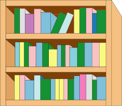 Bookcase clipart Bookcase to Simple Free Free