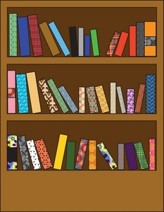 Bookcase clipart Full Books Clipart Book of