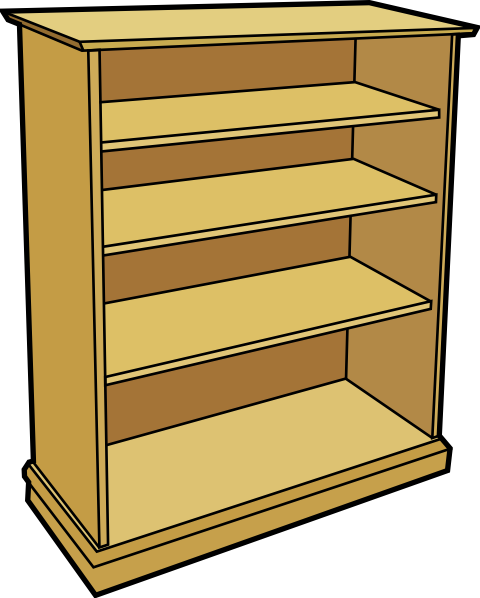 Bookcase clipart full Clipart furniture Clipart Clipart Images