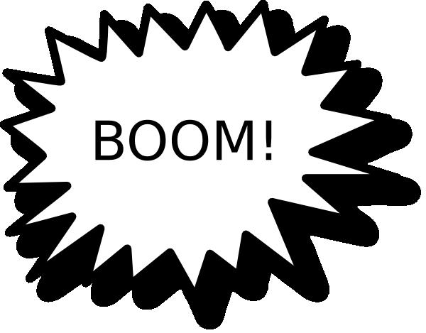 Boom clipart  Art online Clker as: