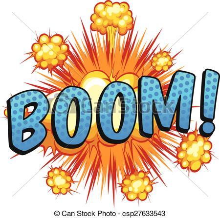 Boom clipart art EPS csp27633543 Vector of Boom
