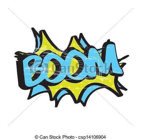 Boom clipart art Icon vector Vector icon of