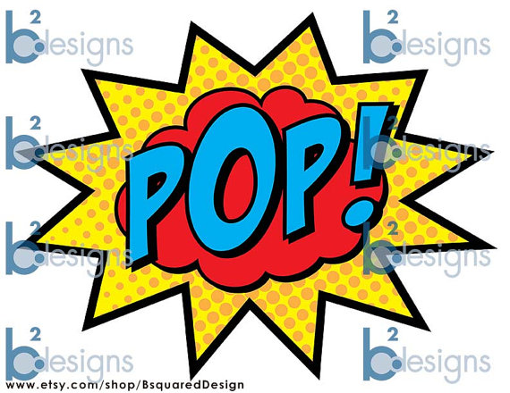 Boom clipart cloud 11  Pop Pow Superhero