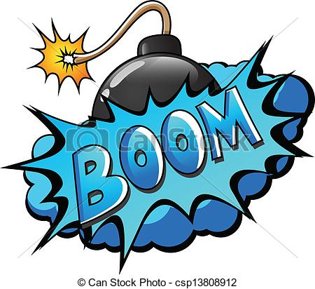 Boom clipart bomb Csp13808912 of Boom Comic