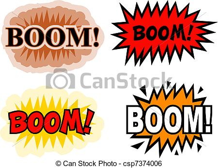 Boom clipart cartoon Csp7374006 Boom book  collection