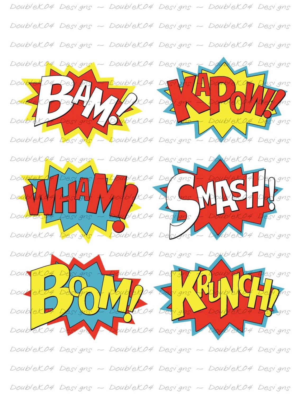 Boom clipart kapow Sound Bam Kapow Effects Superhero