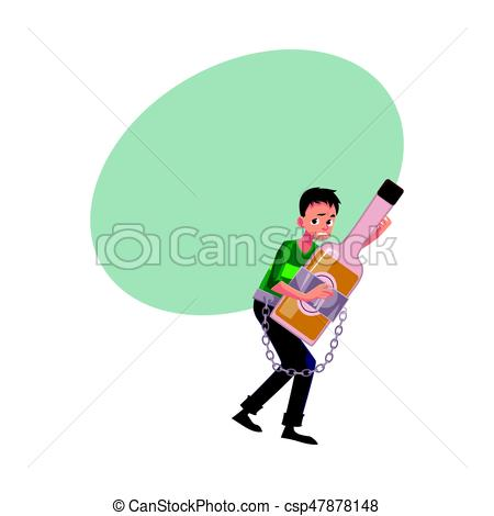 Boose clipart alcohol abuse Dependence man Unshaven alcohol chained