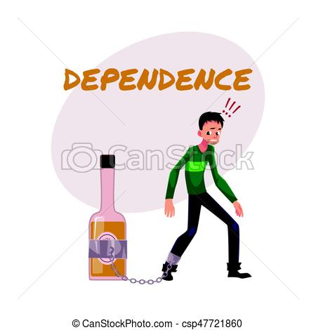 Boose clipart alcohol abuse Dependence man Unshaven alcohol hand