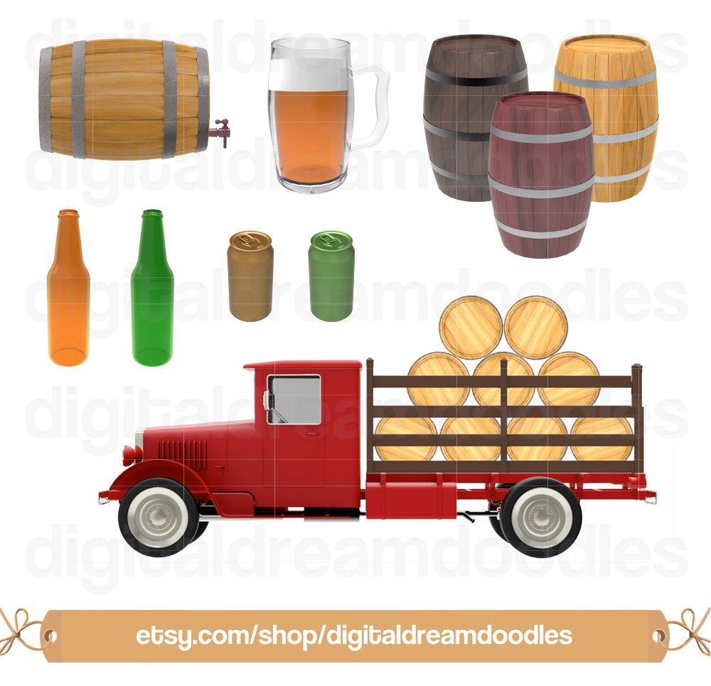 Boose clipart beer can Keg Barrel a Truck digital
