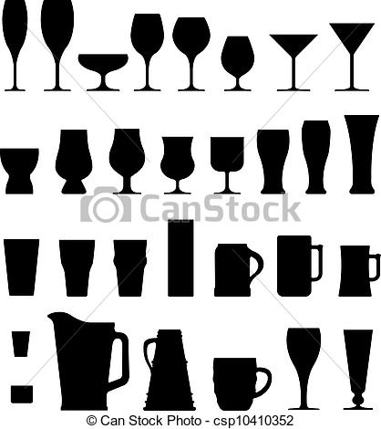 Boose clipart beer glass Of Alcohol silhouettes A csp10410352