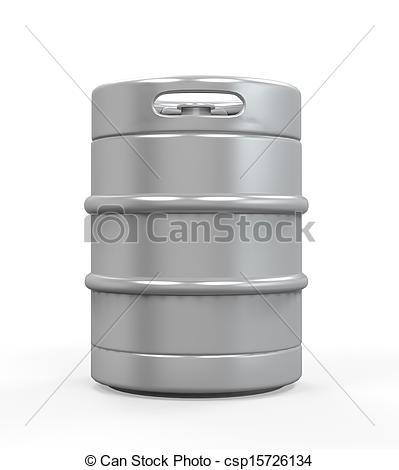 Boose clipart beer keg Keg of isolated on Metal