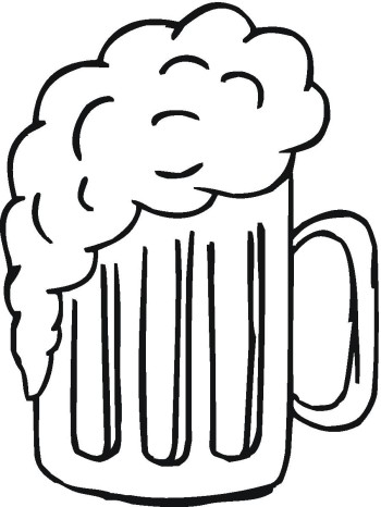 Beer clipart black and white Clip Beer images clipart black