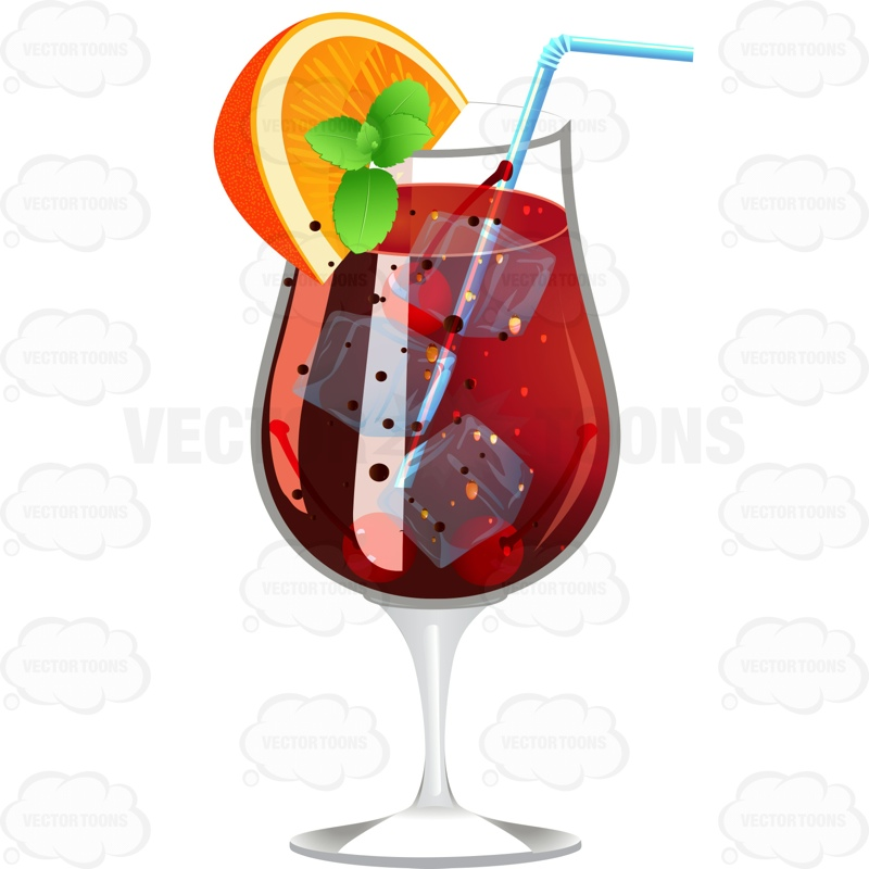 Wine clipart sangria Clipart Wedge A  Lemon
