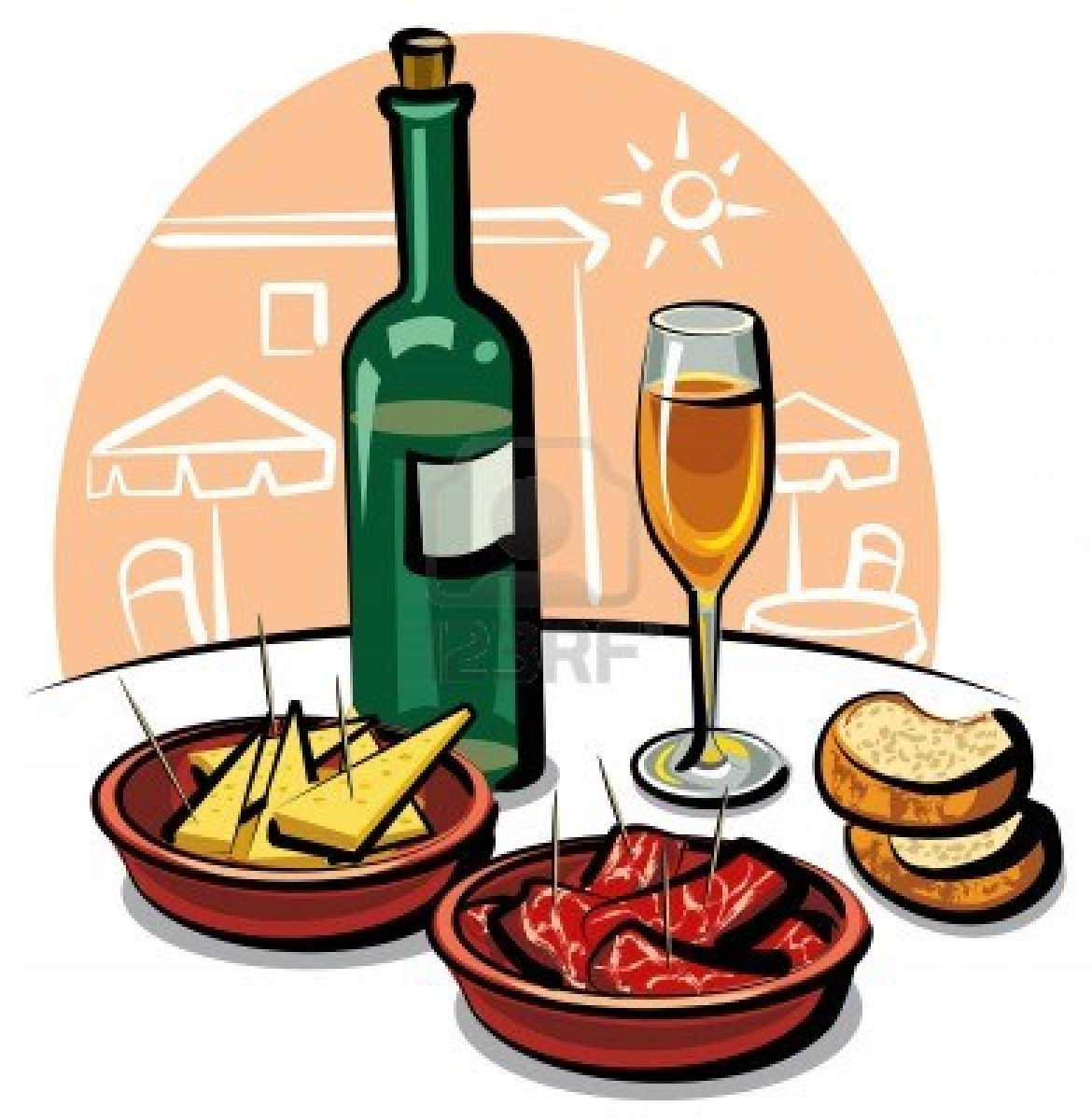 Boose clipart food and drink Art and Tapas 1 wine