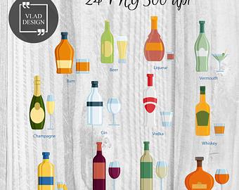 Beverage clipart bottled drink Clipart Alcohol Clipart Beverage Goblet