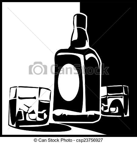Whisky clipart cartoon  Art whiskey bottle of