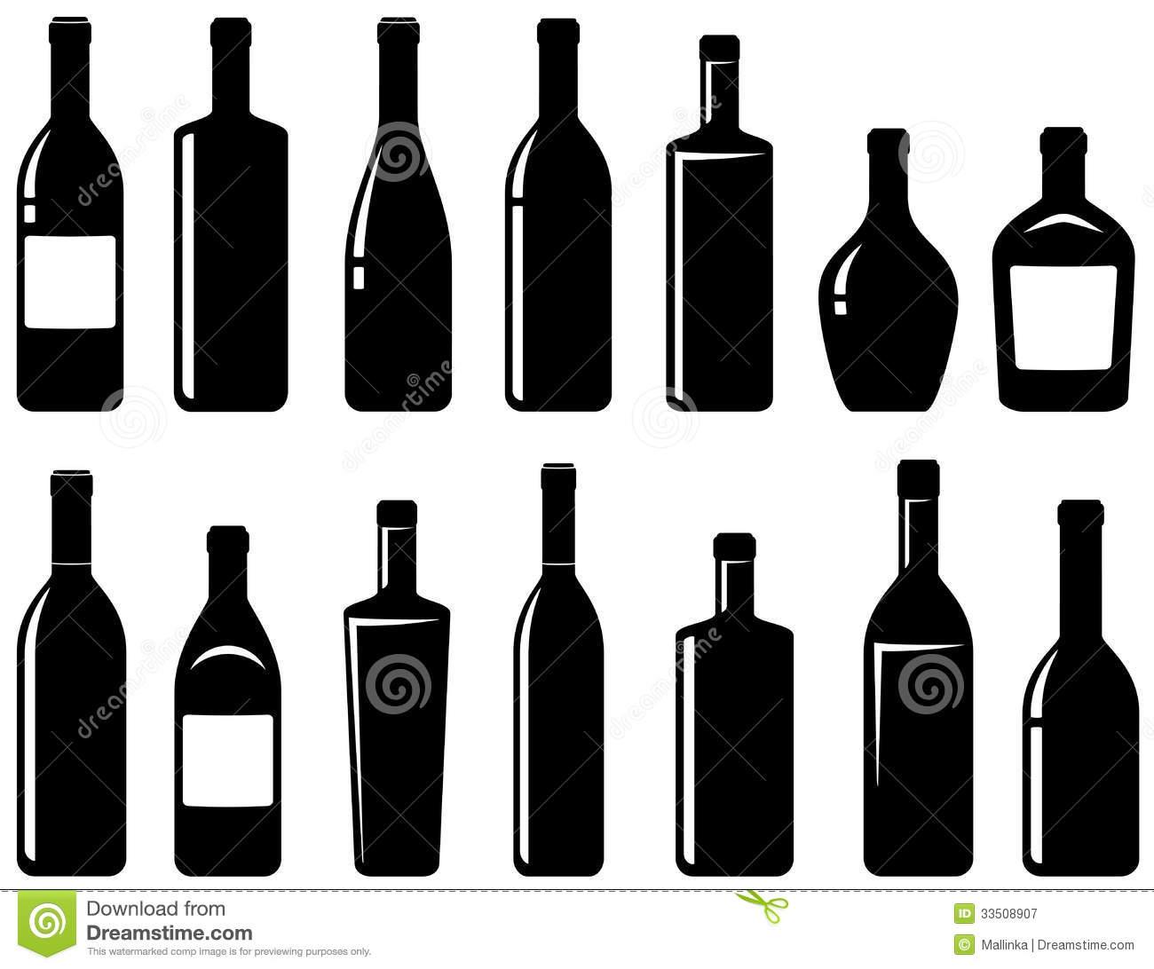 Boose clipart wine bottle Clip Black Clipart Bottle Of