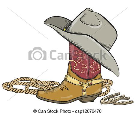 Cowboy clipart vaquero On on western with csp12070470