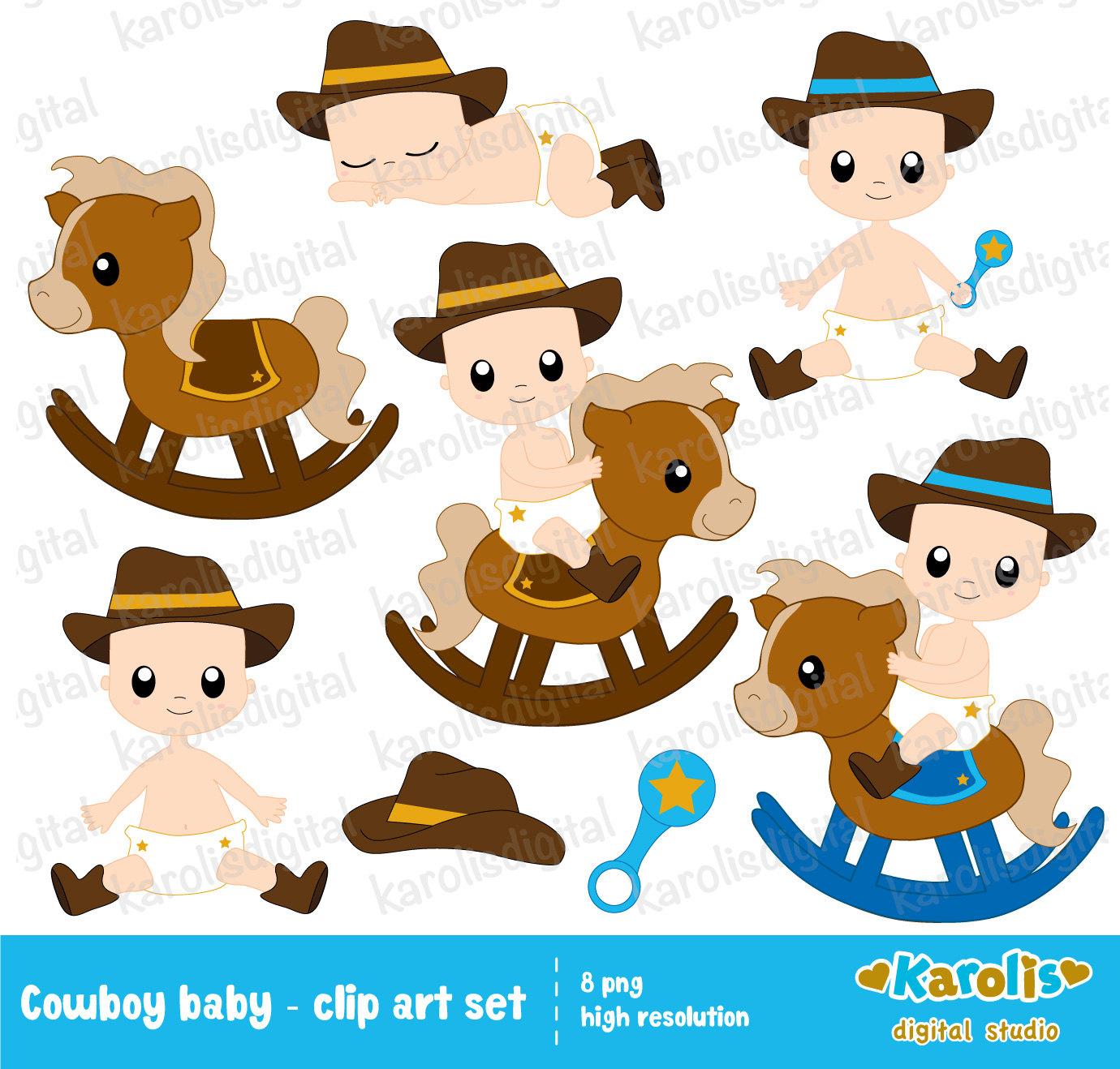 Cowboy clipart little boy Boots set  art cowboy
